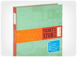 ticket stub diary $12 A ticket stub diary is gift he'll cherish. It allows him to keep and preserve the memories from his favorite events, including concerts, vacations, games, museum visits, and more.