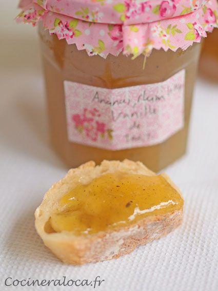 confiture d'ananas, rhum vieux, vanille de Tahiti 2 ©cocineraloca.fr