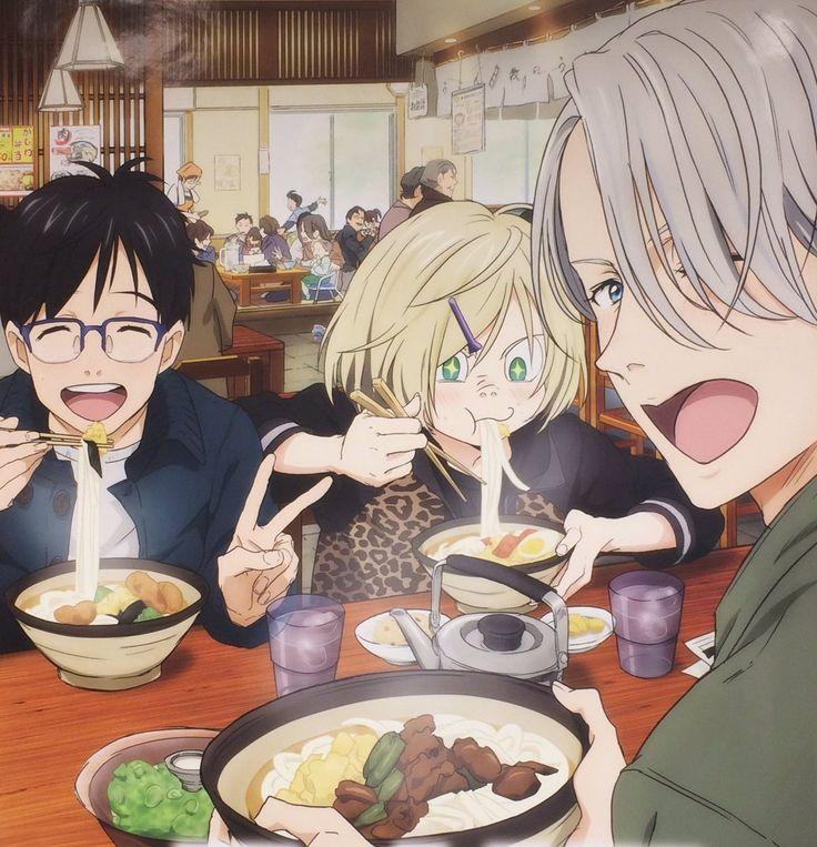 sunyshore:   New artwork of the three eating udon!... - ユリ!!