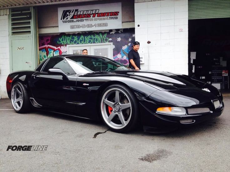 C5 Z06 fit with Forgeline CF3C wheels by Hawaii's Auto Customs.
