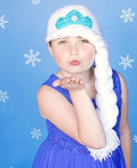 Elsa Crochet Hat Braid Free Pattern