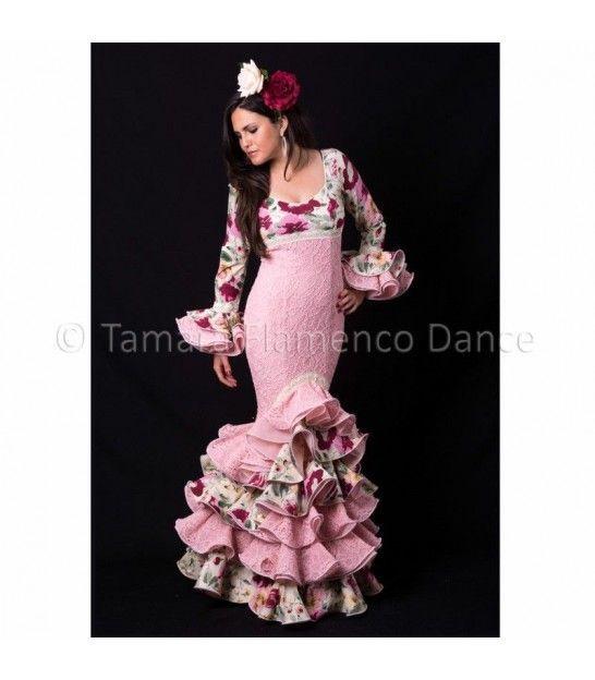 Flamenca rosa flores