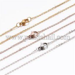 304 Edelstahl-Kreuzkette HalskettenNJEW-E026-04