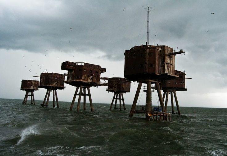 Fortes marítimos abandonados, na Inglaterra