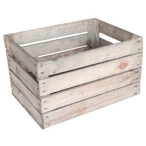 Trækasse Opbevaringskasse med naturlig patina - Coop.dk