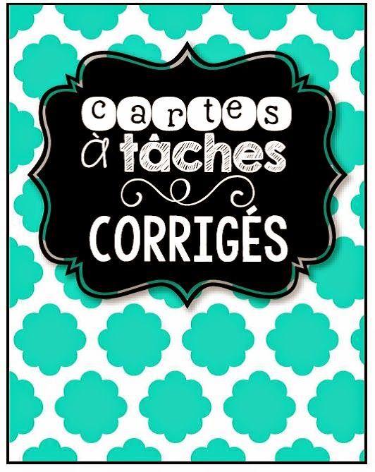 Organisation des cartes à tâches www.laclassedekarine.blogspot.com
