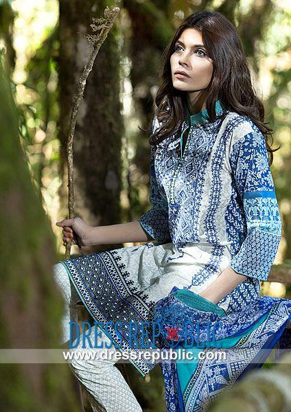 Sana Safinaz Summer Lawn Collection 2014 Catalog  Designer Pakistani Lawn Dress Design 2014 in United States: Sana Safinaz Summer Lawn Collection 2014 Catalog. Call Chicago, IL, - US:  1 (312) 857 5789. by www.dressrepublic.com