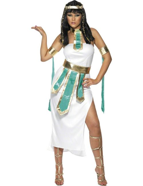 Pharaonin Cleopatra Ägypterin Antike Damenkostüm türkis-weiss-gold - Artikelnummer: 523230000 - ab 29.99EURO - bei Karneval-Megastore.de!