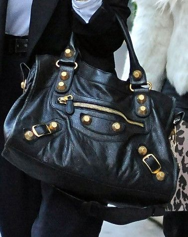 Balenciaga bag City bag in black - have it in black would love a bright neon colour! Maybe pink, or yellow? -Jessica