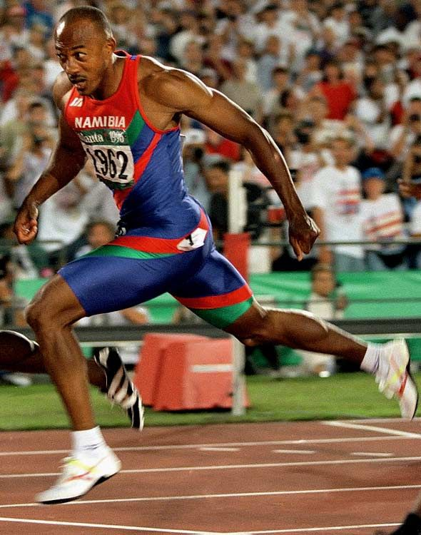 Frankie Fredericks (Namibia) Sprinter. Four Olympic Silver medals,one Gold World Championship medal and three Silvers.