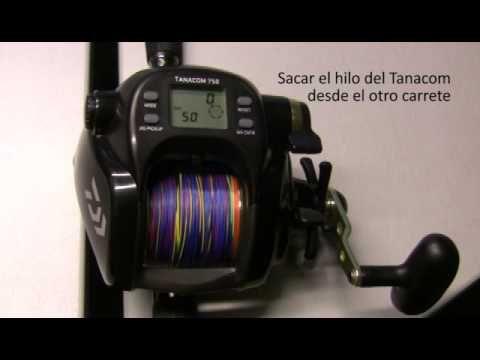 Carrete eléctrico Daiwa Tanacom : Cómo parametrizar el contador - YouTube