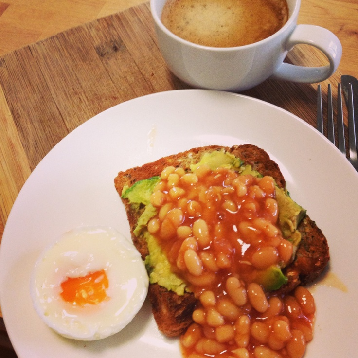 Yay for Fridays! Delicious @12wbt Egg with Avocado Toast & Baked Beans to celebrate  thx team! #michellebridges