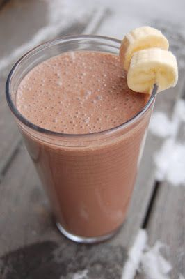 Image result for chocolate banana smoothie
