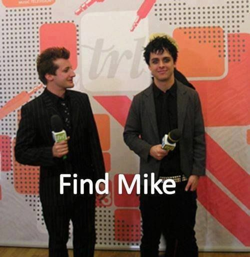 hahaha aww, I think Mike is bending his knees to meet Billie's height level