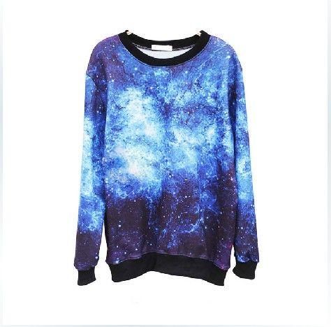 Chic Galaxy Space Starry Print Shirt