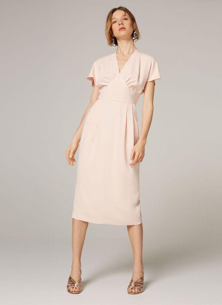 Vestido midi rosa palo - Ver todo - Colección - Uterqüe España