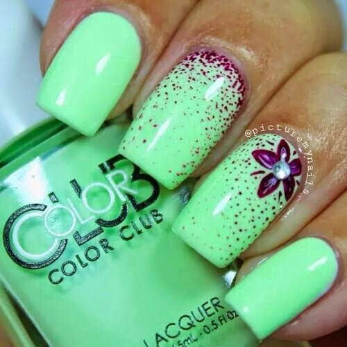 Best 25+ Lime green nails ideas on Pinterest | Neon green nails ...