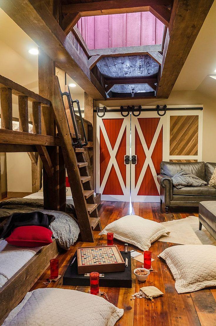 Modern rustic kids bedroom - 27 Creative Kids Rooms With Space Savvy Sliding Barn Doors