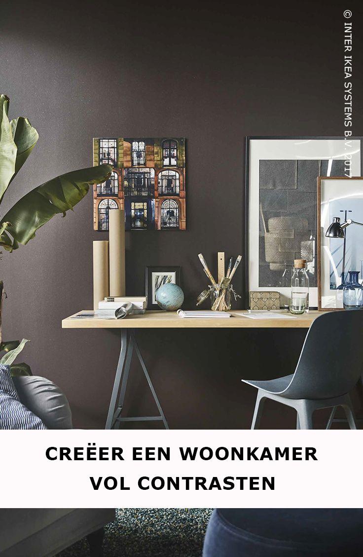 Installeer een alles-in-één tafel in je woonkamer! Ga voor een licht werkblad op schragen dat je makkelijk kunt omtoveren tot bureau of eettafel. Ontdek onze ideeën voor een rustgevende woonkamer met een persoonlijke toets. EKBACKEN Werkblad, 49,90/st. #IKEABE #IKEAidee  Opt for an all-in-one table in your living room! Use a lightweight work top with trestles that you can easily turn into a desk or dining table. Discover our ideas. EKBACKEN Countertop, 49,90/pce. #IKEABE #IKEAidea