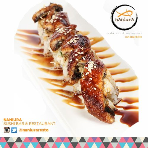 #DragonRoll Lets order: Naniura Sushibar Restaurant Jakarta Timur 021-86611789 || Tag ur reviews #NaniuraSushi #Sushi #FoodPorn #SushiLover #SushiResto #SushiRoll