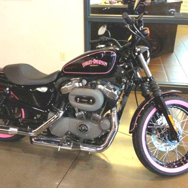 Harley bike in pink..I want purple..