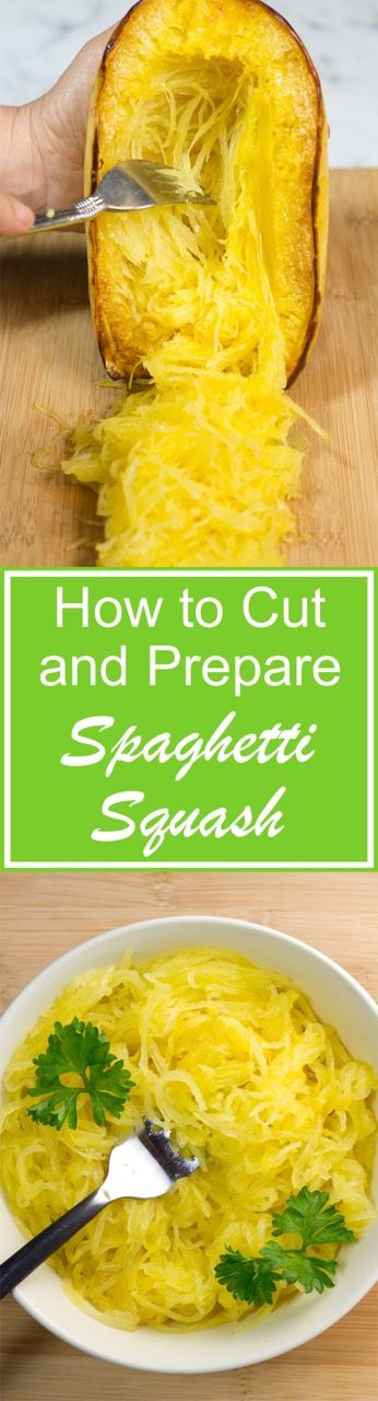 Spaghetti Squash | Step by step video, photos, and tips with serving suggestions | gluten-free recipe | cooking video | low carb