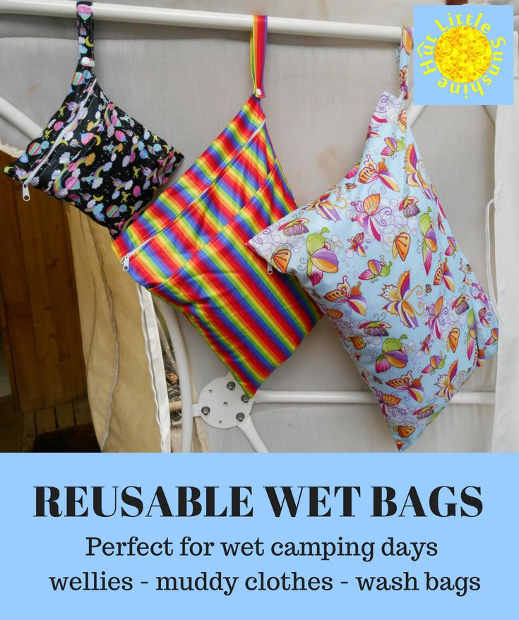 One Of The Many Uses For Reusable Wet Bags Camping Glamping Summer Holidays