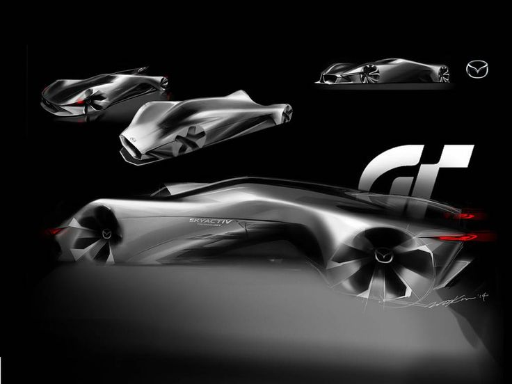mazda lm55 vision gran turismo concept design sketches. Black Bedroom Furniture Sets. Home Design Ideas