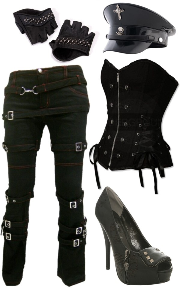 """""""gothic military look"""" by little-miss-rocker-chick on Polyvore"""