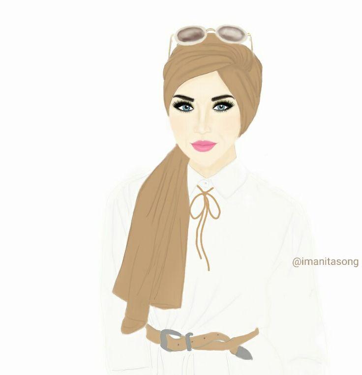 @imanitasong_illustration fashion drawing illustration hijab