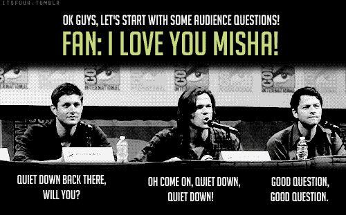 jared jensen misha | gifs2 Jensen Ackles Misha Collins Jared Padalecki Comic Con 2011 ...
