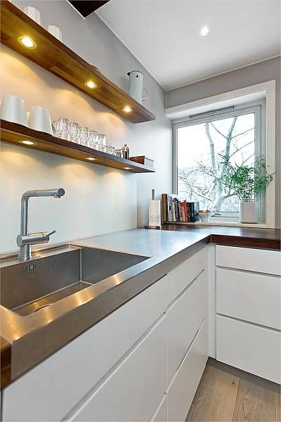 Integrated under-shelf lighting for kitchen wall shelves on either side of the fan. & Best 25+ Under shelf lighting ideas on Pinterest | Accent walls in ... azcodes.com