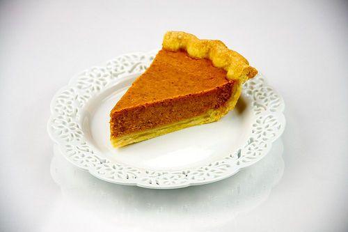 Pumpkin pie. Tarte à la citrouille mais fait avec du potiron.