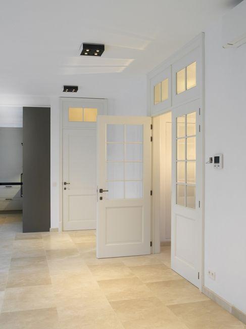 klassieke binnendeur FL 002 glas lak dubbele deur bovenlicht