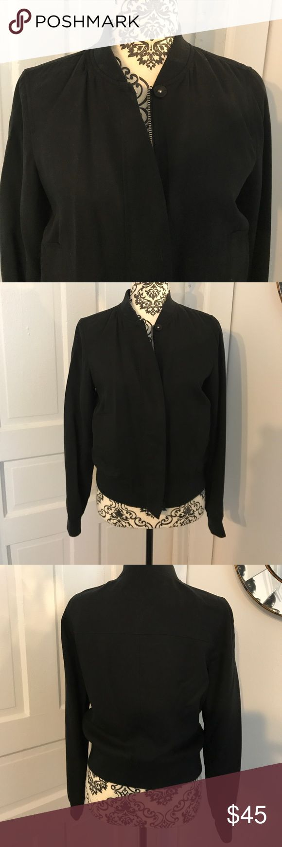 Banana Republic Bomber Style Jacket Perfect for just a little extra coziness. Lightweight and fully lined. worn once. Excellent like new condition. Banana Republic Jackets & Coats
