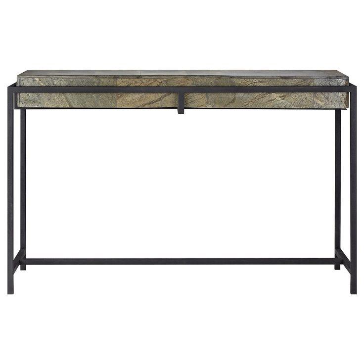 Atelier - Monochrome - Console en ardoise avec base en métal/CONSOLE/TABLES/ATELIER BOUCLAIR|Bouclair.com