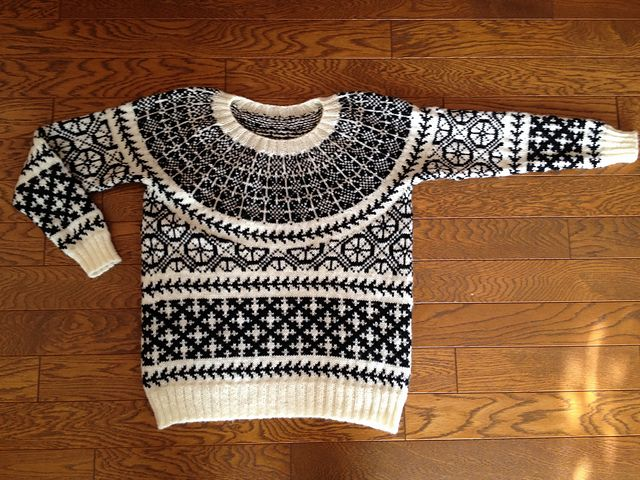 "A japanese girl knitted this sweater and named it ""Gotland"". Very curious to know why - that is the name of my home island in Sweden!"