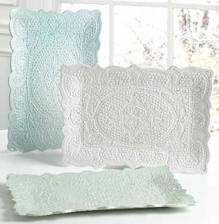 DIY Lace Dishes