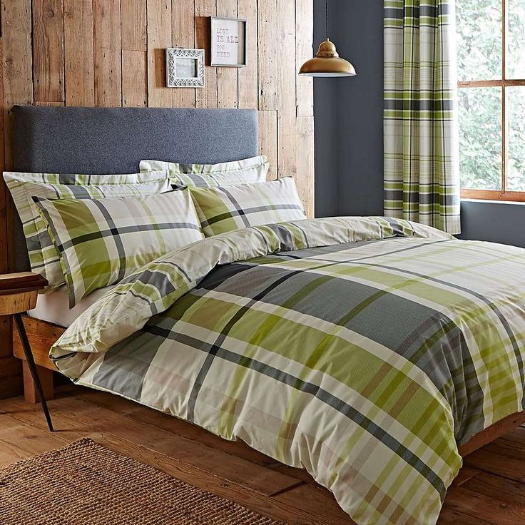 Stanley Green Bed Linen Collection | Dunelm