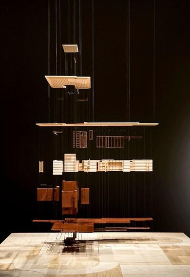 physical exploded diagram (model of Frank Lloyd Wright's Herbert Jacobs House