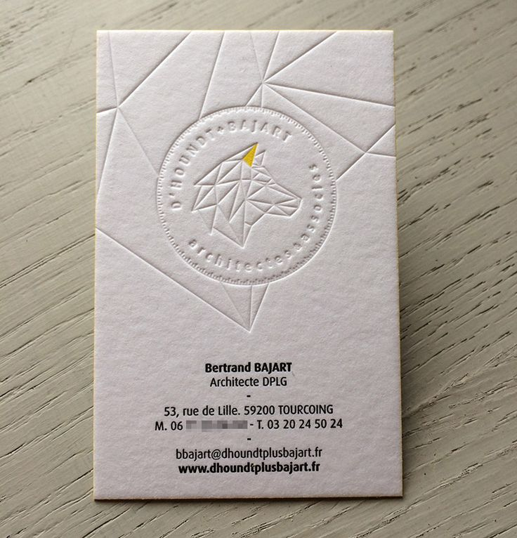 Print : Badcass - Design : Elanassë - Carte de visite en letterpress - #débossagepur #couleursurtranches