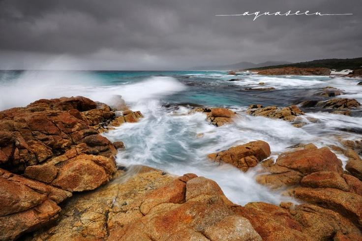 The wild east coast of Tasmania - by aquaseen. Matthew Shepard