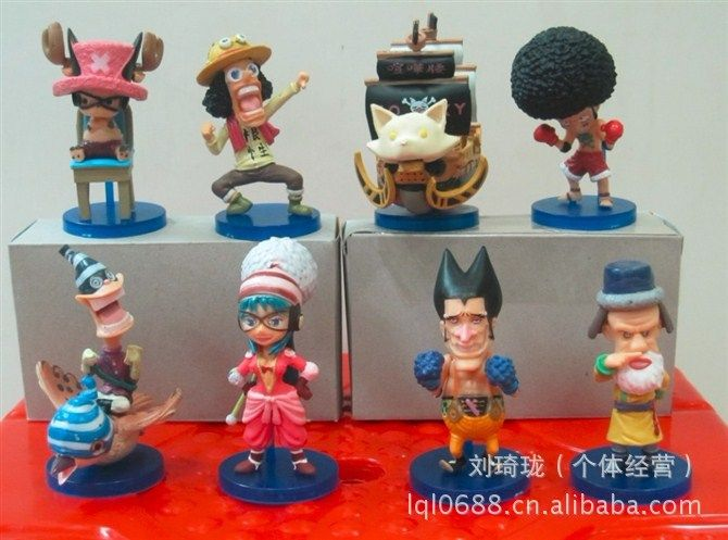 6pcs One Piece Chopper Usopp Action Figures 8cm //Price: $31.00 & FREE Shipping //     #onepieceluffy #onepiecefigure #dluffystore