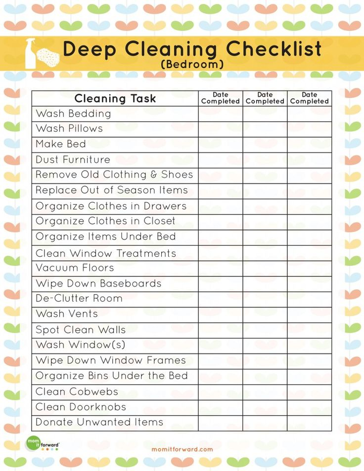 top 25+ best room cleaning checklist ideas on pinterest