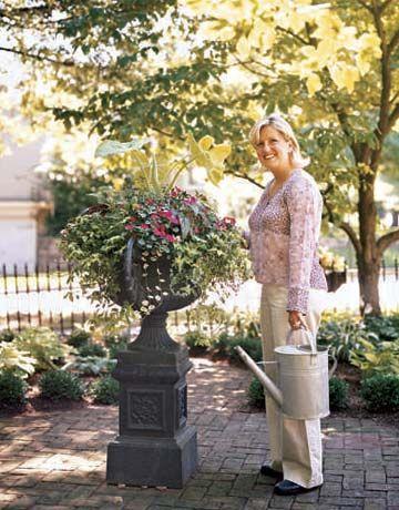 Front Porch Ideas - Container Garden Designs - Country Living