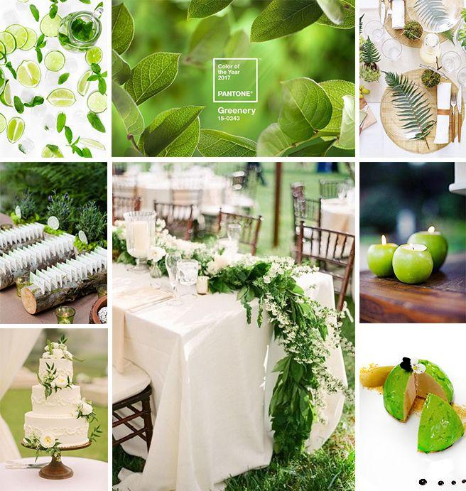 Décoration de Mariage vert greenery, élue couleur de l'année 2017 par Pantone  #tendance #inspiration #mariage #wedding #decoration #couleur #vert #anis #green #greenery #pantone #design #table #artdelatable #centredetable #centerpiece #evenementiel #traiteur #lyon