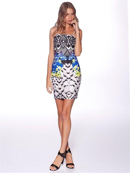 Santorini Body Con Dress by Honey & Beau at Village Chic - $94.95 AUD