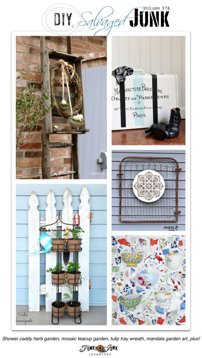 Funky junk party highlights a collection of ideas to for Funky garden accessories