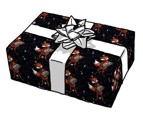 My Moon Songs Fox gift wrap now available on Spoonflower! #fox #wrappingpaper #giftwrap #spoonflower