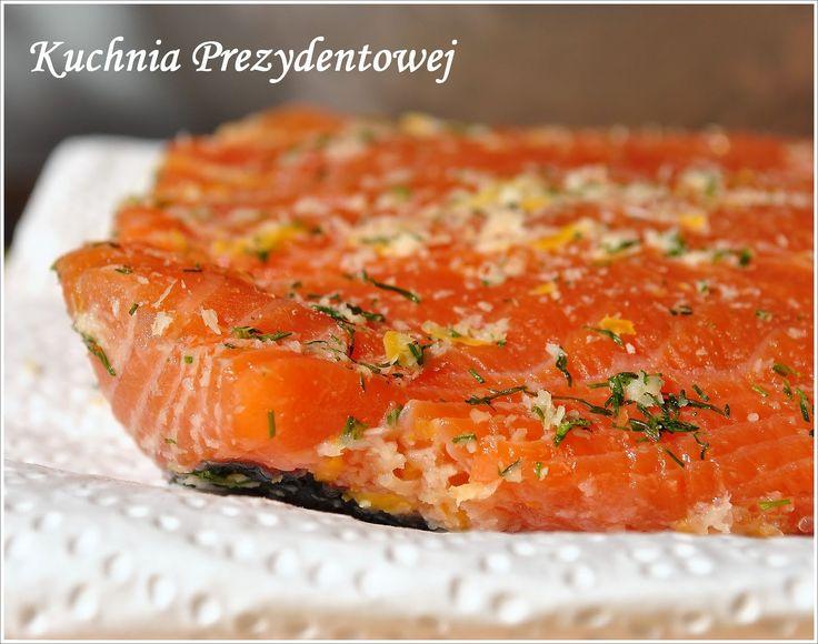 Kuchnia Prezydentowej: Łosoś marynowany a la gravlax